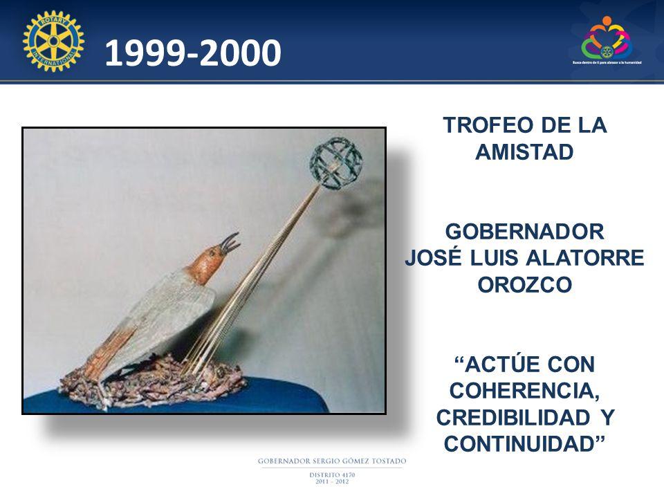 1999-2000 TROFEO DE LA AMISTAD GOBERNADOR JOSÉ LUIS ALATORRE OROZCO