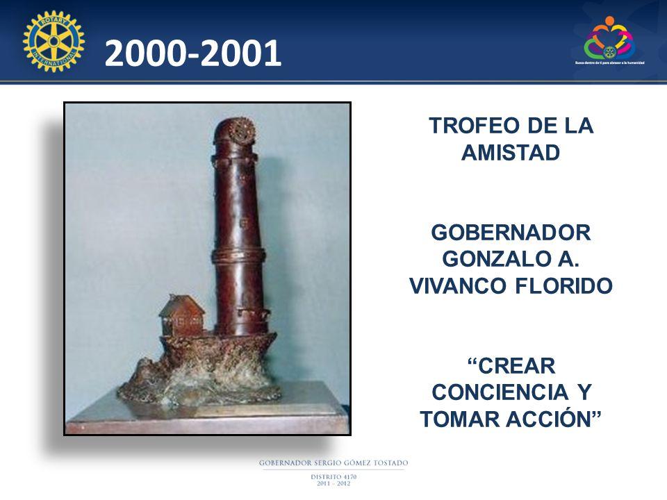 2000-2001 TROFEO DE LA AMISTAD GOBERNADOR GONZALO A. VIVANCO FLORIDO