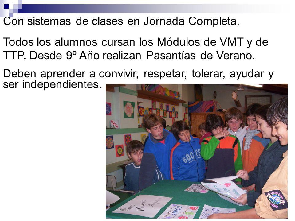 Con sistemas de clases en Jornada Completa.