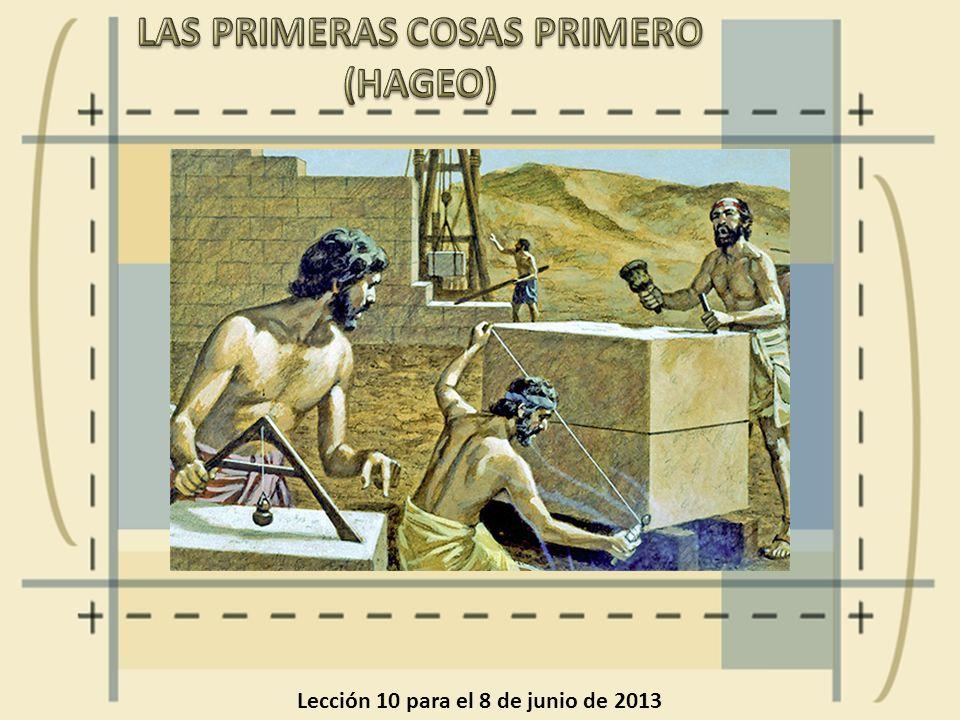 LAS PRIMERAS COSAS PRIMERO (HAGEO)