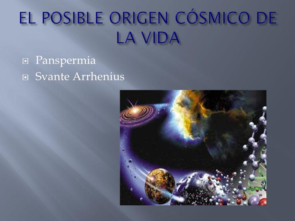 EL POSIBLE ORIGEN CÓSMICO DE LA VIDA