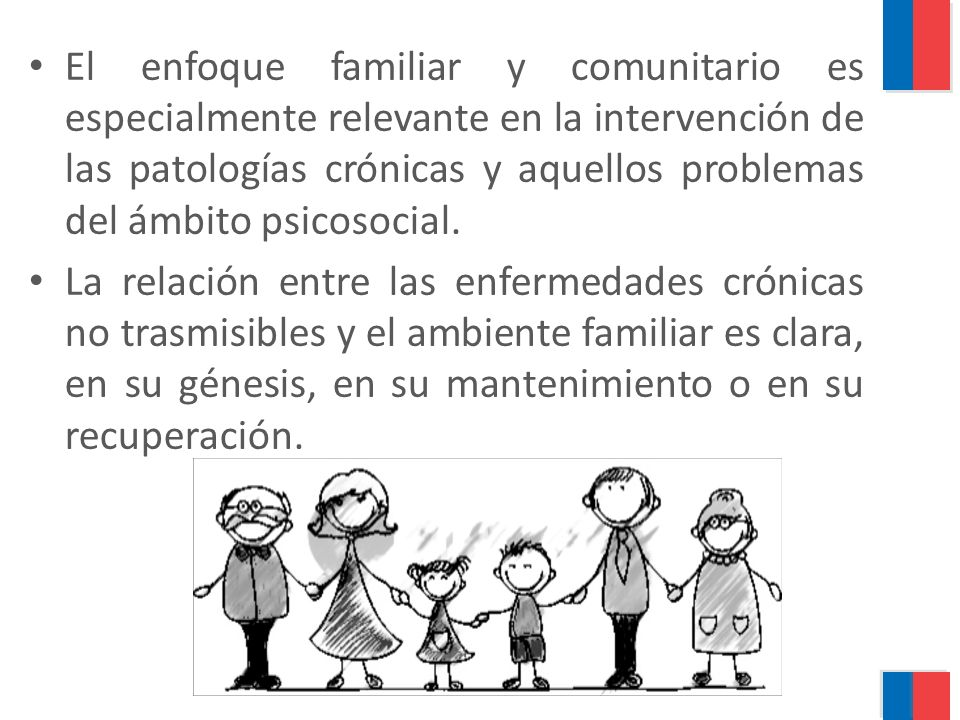 El enfoque familiar y comunitario es especialmente relevante en la intervención de las patologías crónicas y aquellos problemas del ámbito psicosocial.
