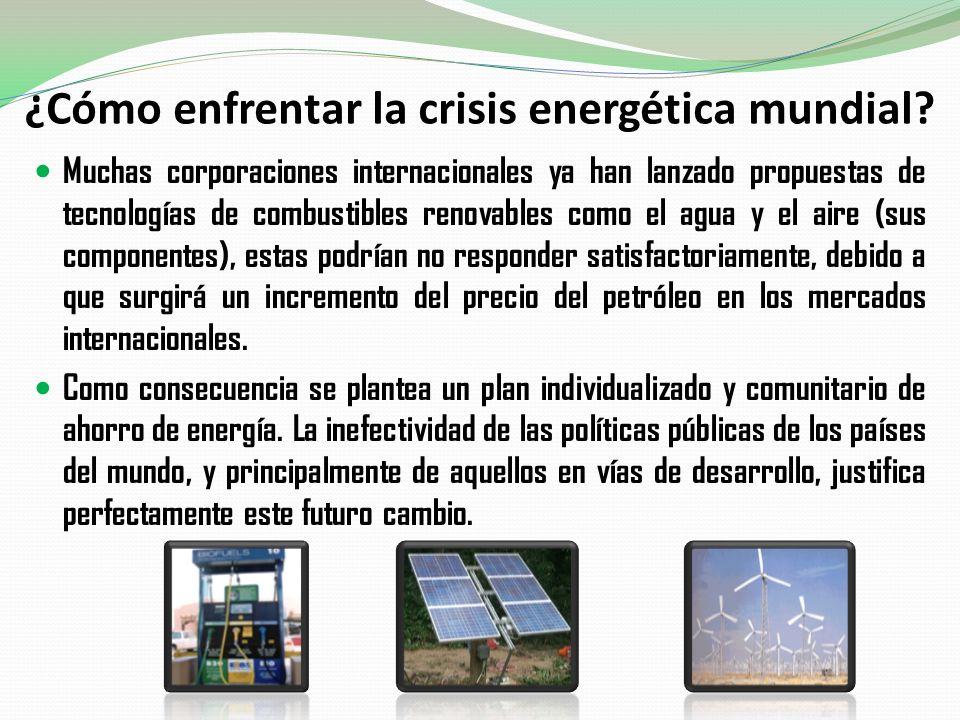 ¿Cómo enfrentar la crisis energética mundial