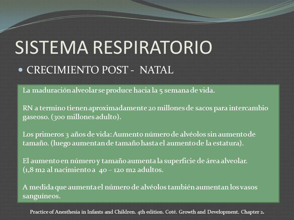 SISTEMA RESPIRATORIO CRECIMIENTO POST - NATAL