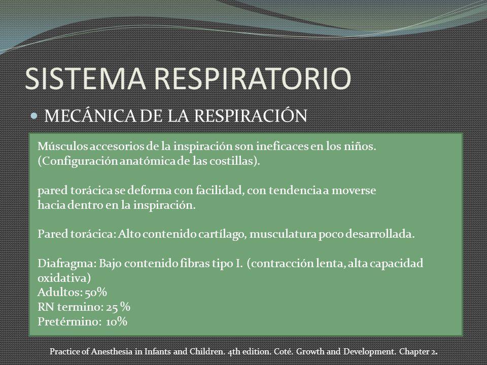 SISTEMA RESPIRATORIO MECÁNICA DE LA RESPIRACIÓN