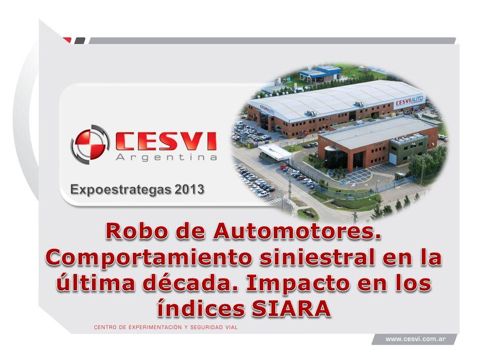 Expoestrategas 2013 Robo de Automotores. Comportamiento siniestral en la última década.