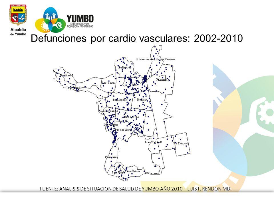 Defunciones por cardio vasculares: 2002-2010