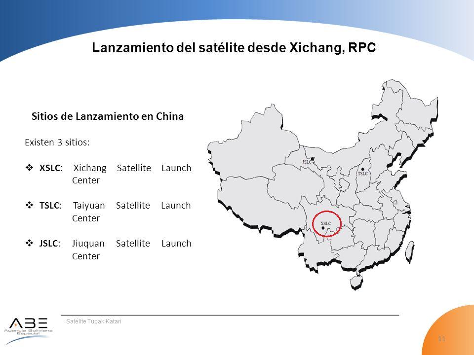 Lanzamiento del satélite desde Xichang, RPC