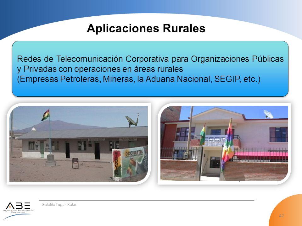Aplicaciones Rurales Redes de Telecomunicación Corporativa para Organizaciones Públicas y Privadas con operaciones en áreas rurales.