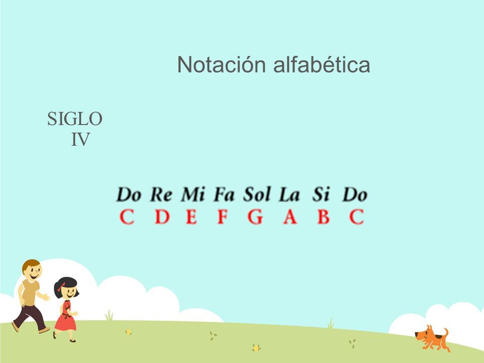 Notación alfabética SIGLO IV