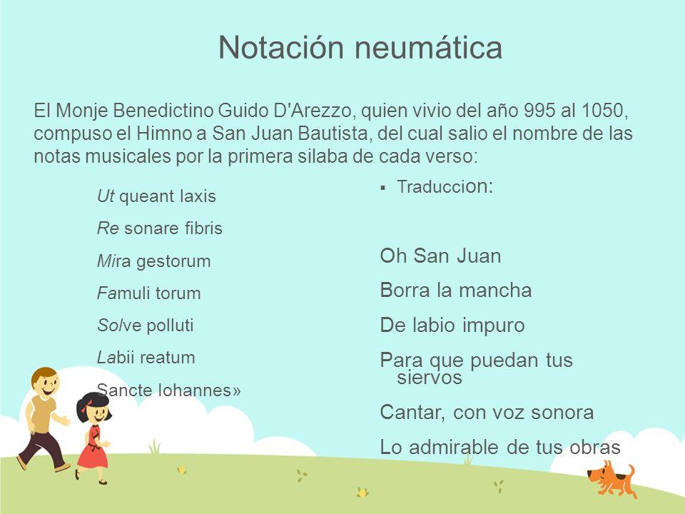 Notación neumática Oh San Juan Borra la mancha De labio impuro