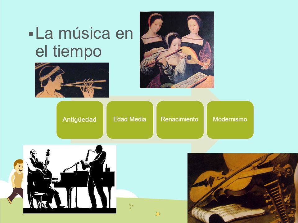 La música en el tiempo Antigüedad Edad Media Renacimiento Modernismo