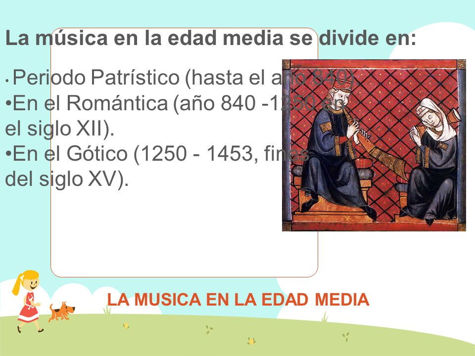 LA MUSICA EN LA EDAD MEDIA