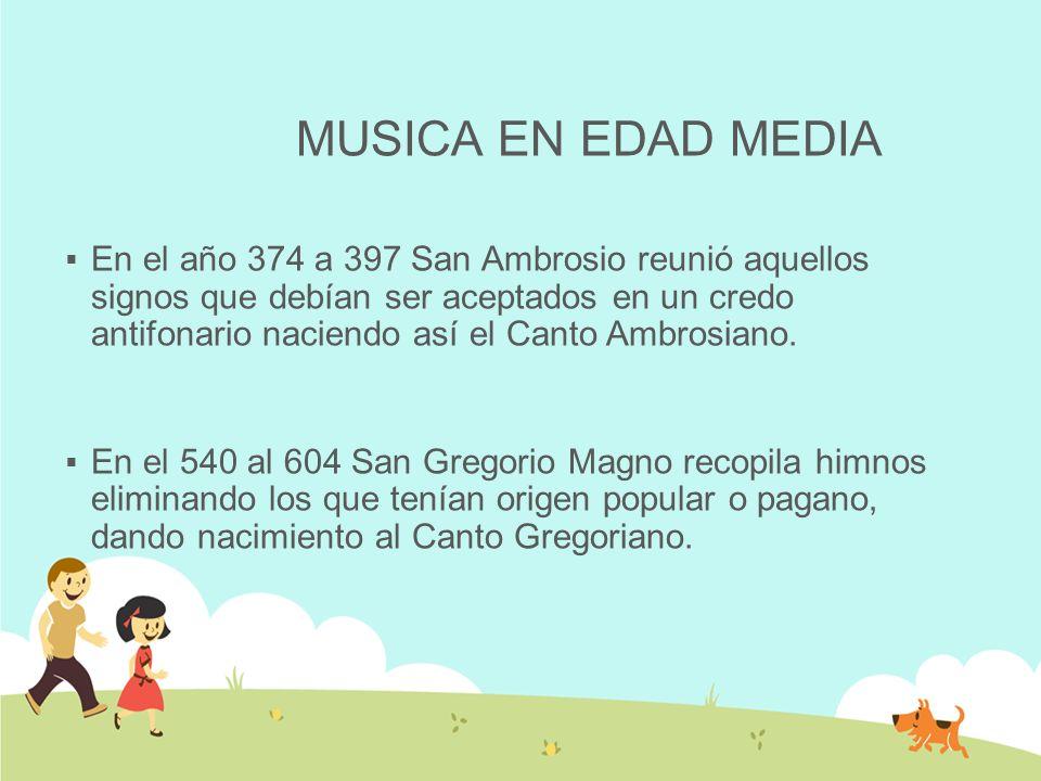 MUSICA EN EDAD MEDIA