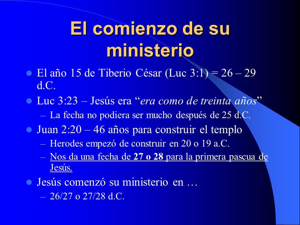 El comienzo de su ministerio
