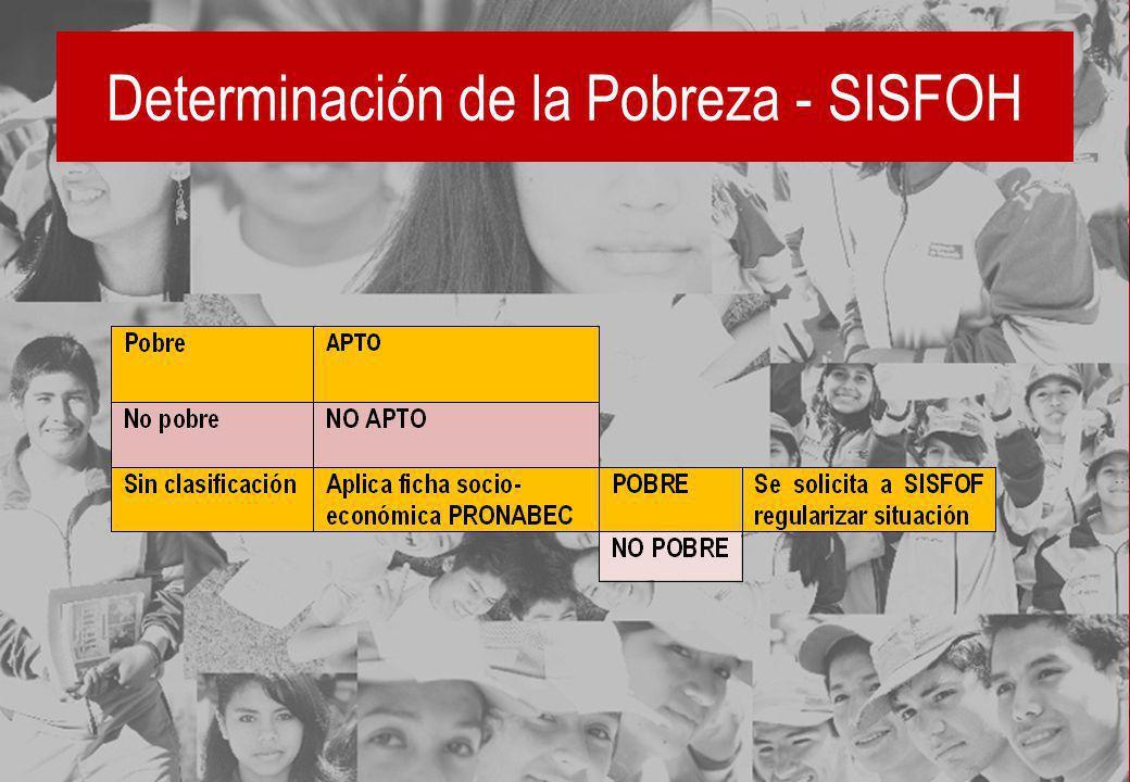 Determinación de la Pobreza - SISFOH