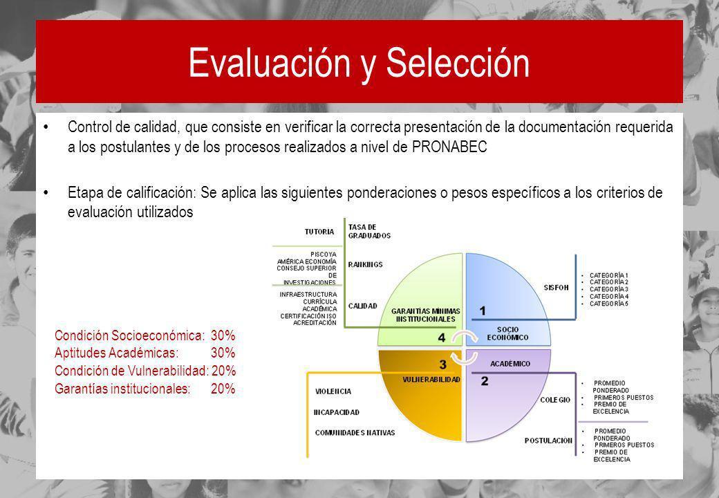 Evaluación y Selección