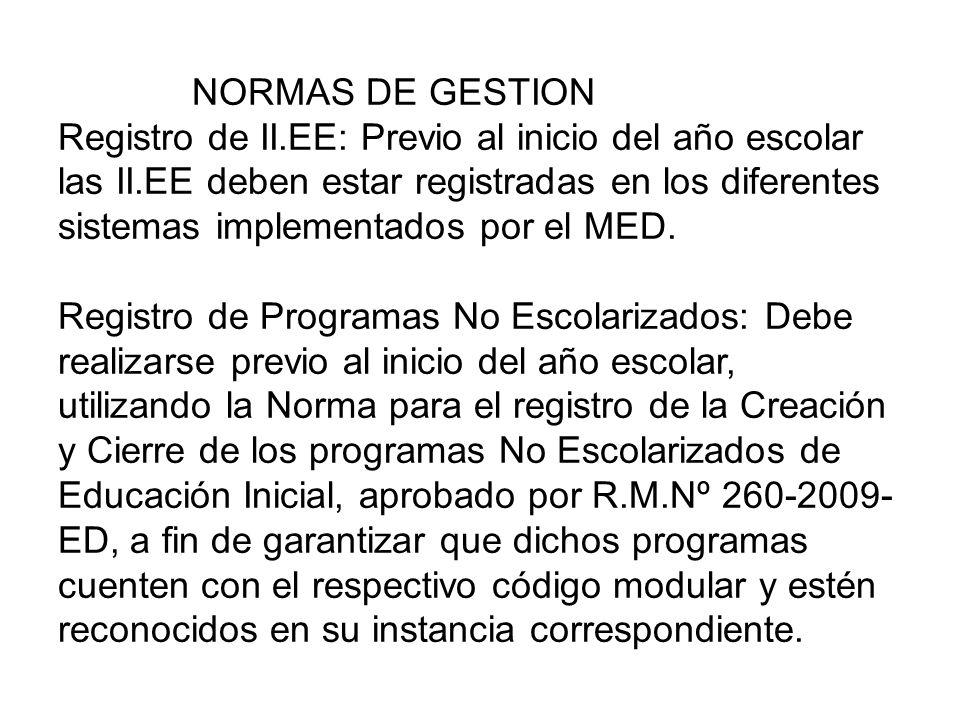 NORMAS DE GESTION Registro de II