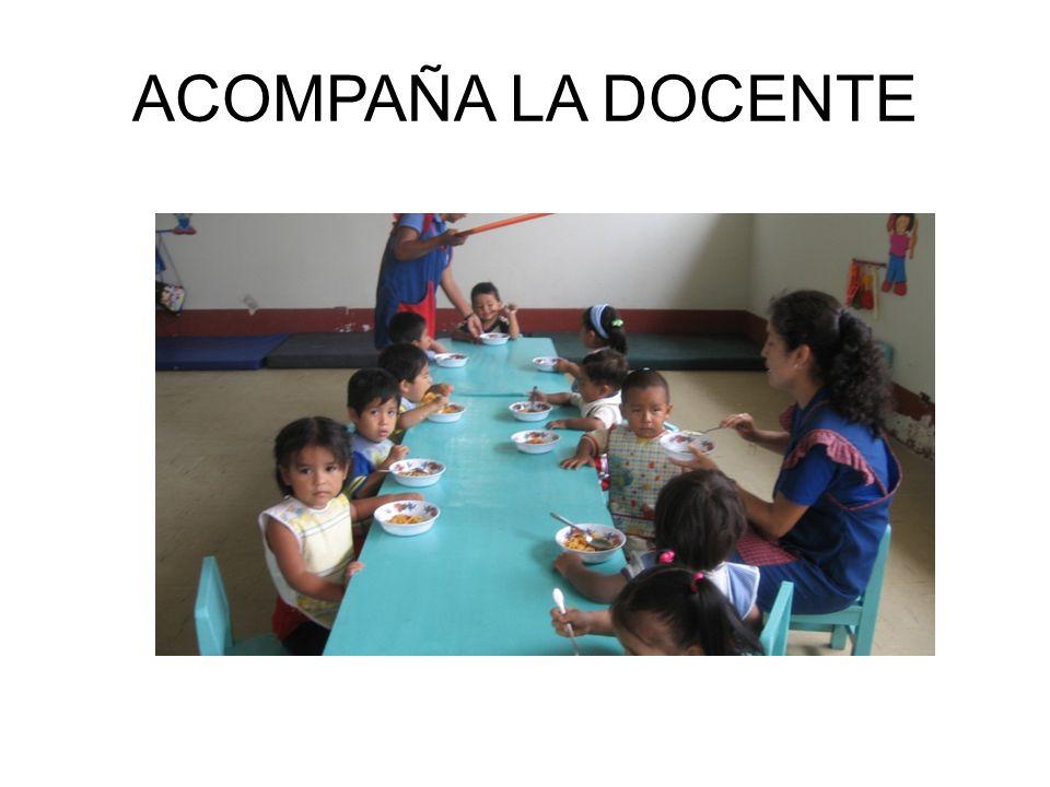 ACOMPAÑA LA DOCENTE