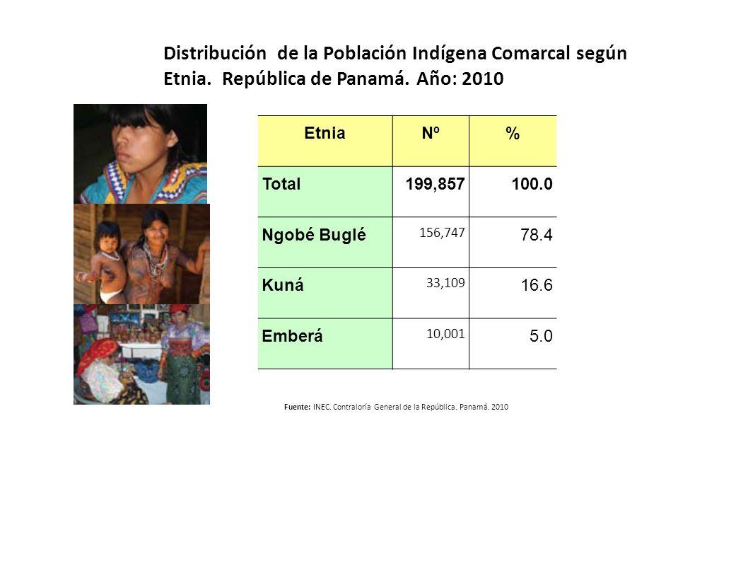 Distribución de la Población Indígena Comarcal según Etnia
