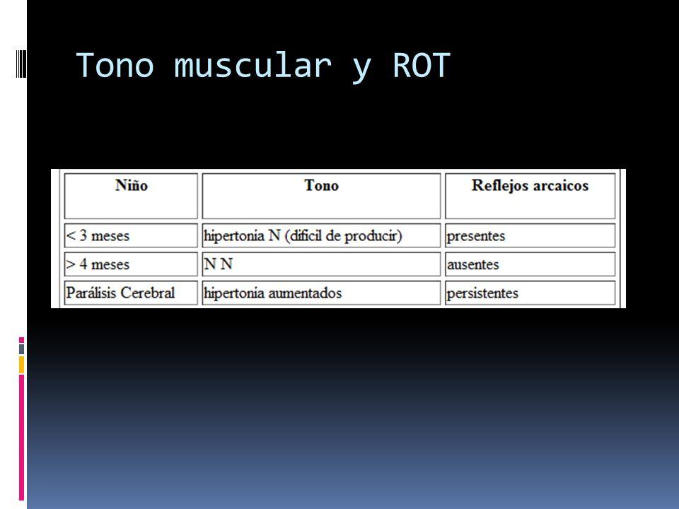 Tono muscular y ROT