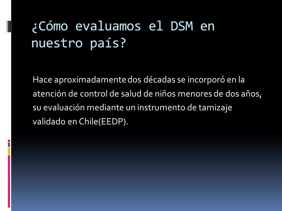 ¿Cómo evaluamos el DSM en nuestro país