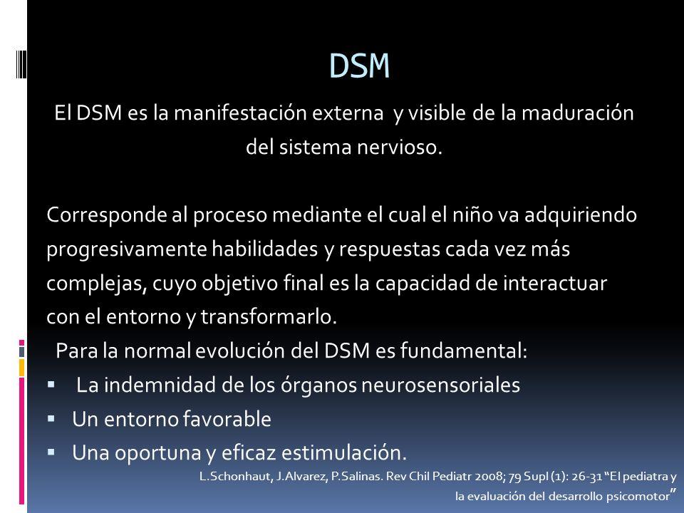 El DSM es la manifestación externa y visible de la maduración