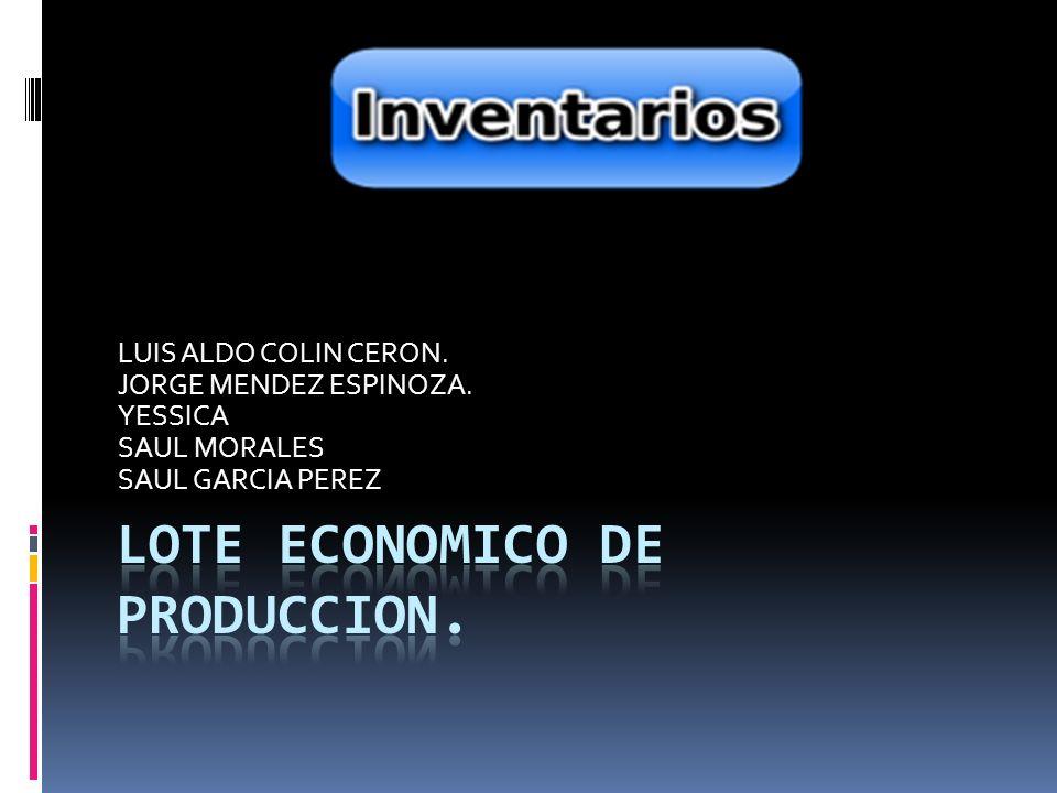 LOTE ECONOMICO DE PRODUCCION.