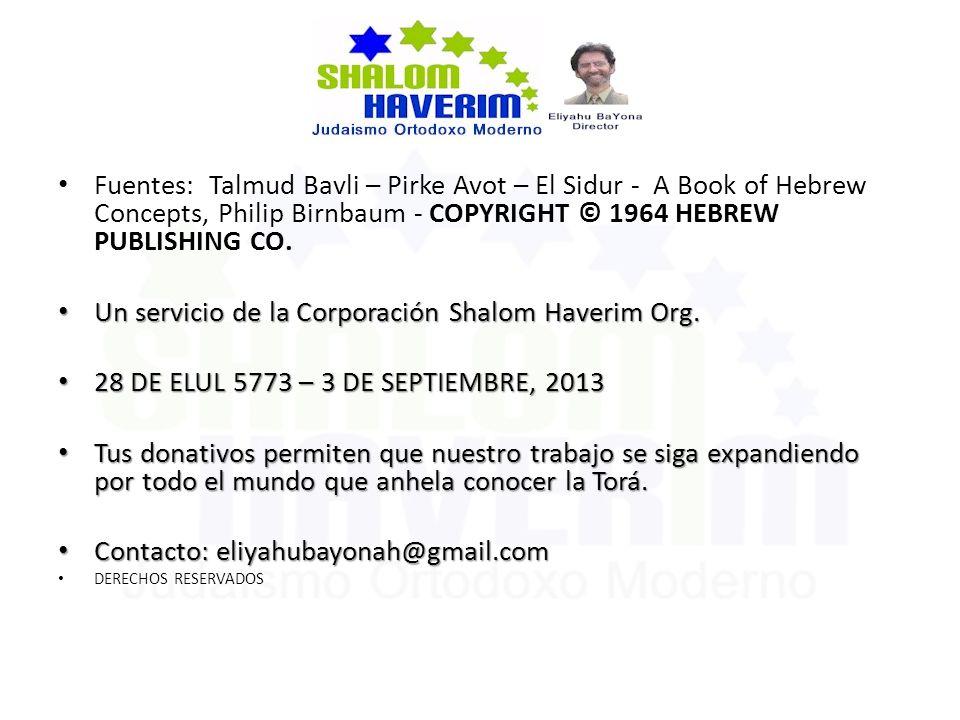 Un servicio de la Corporación Shalom Haverim Org.