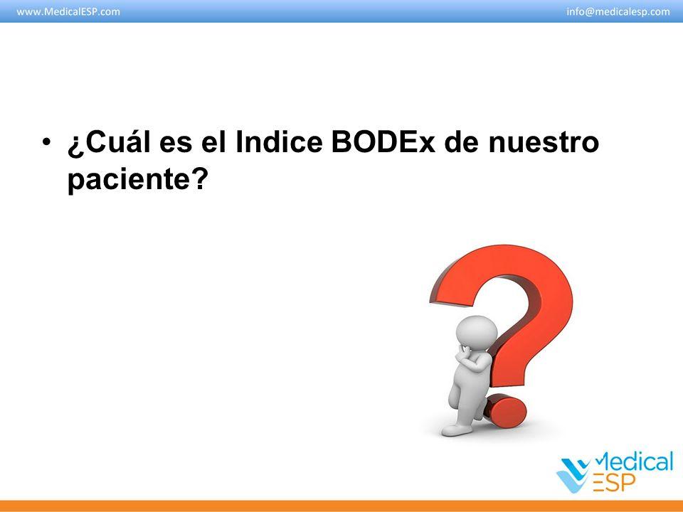¿Cuál es el Indice BODEx de nuestro paciente