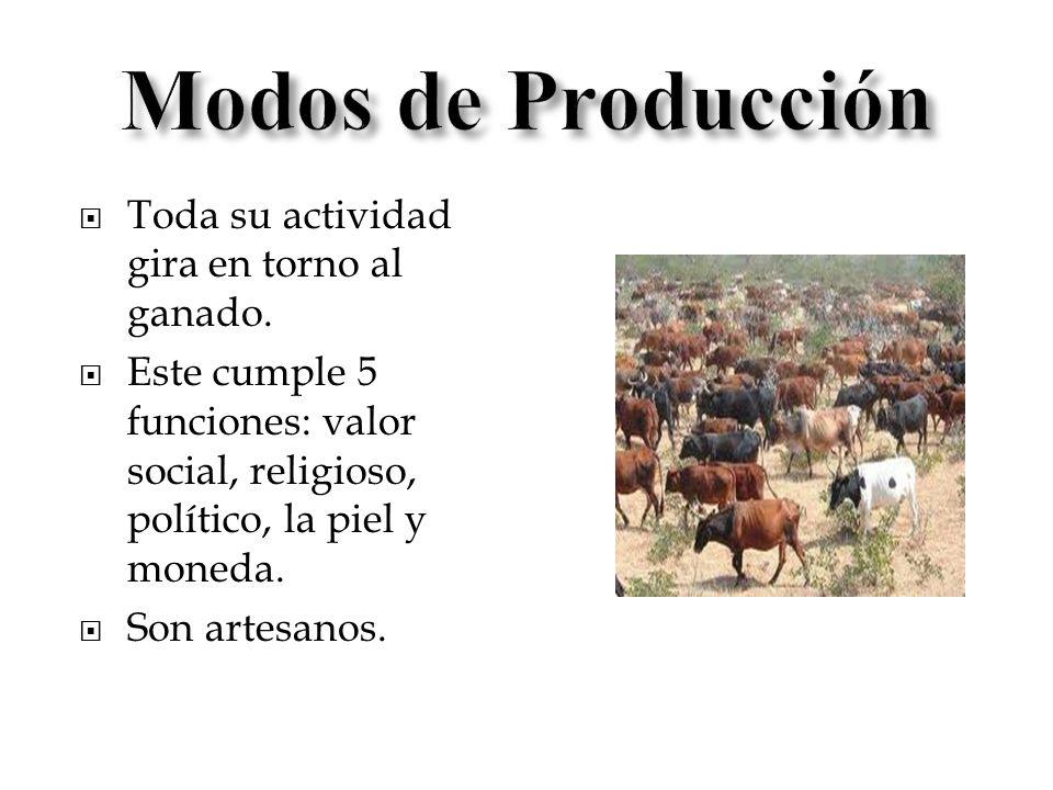 Modos de Producción Toda su actividad gira en torno al ganado.