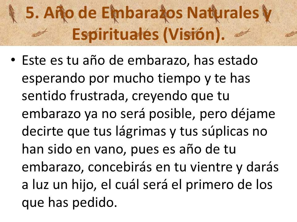 5. Año de Embarazos Naturales y Espirituales (Visión).