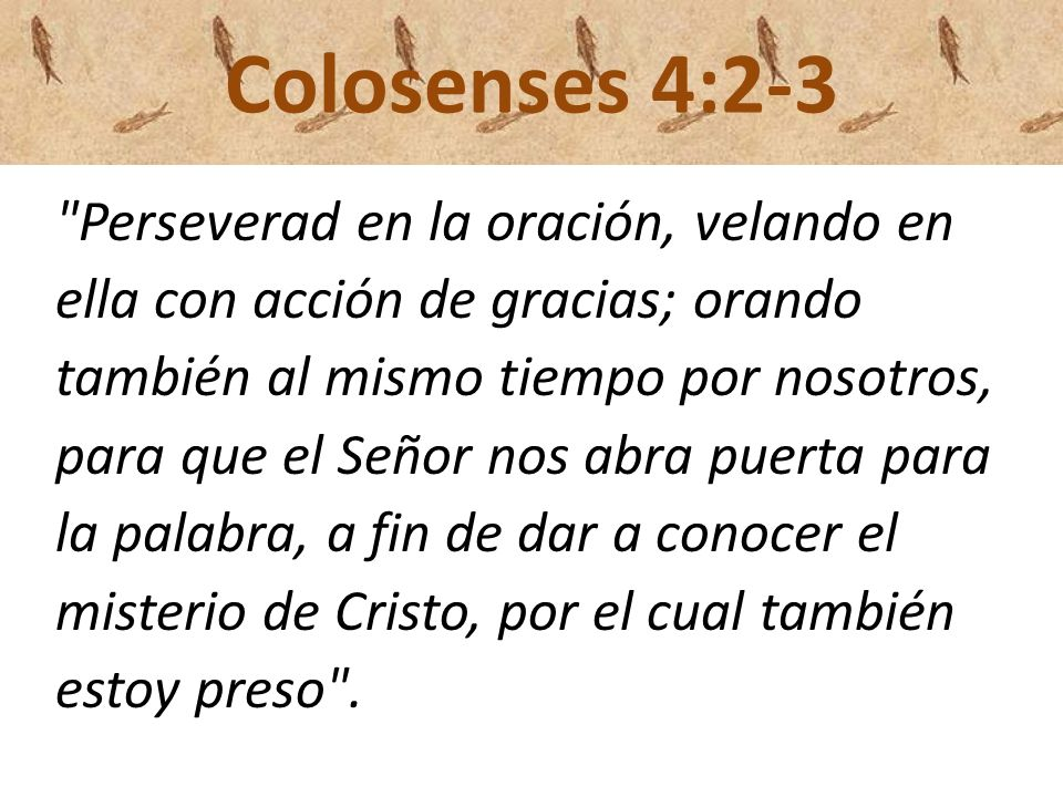 Colosenses 4:2-3