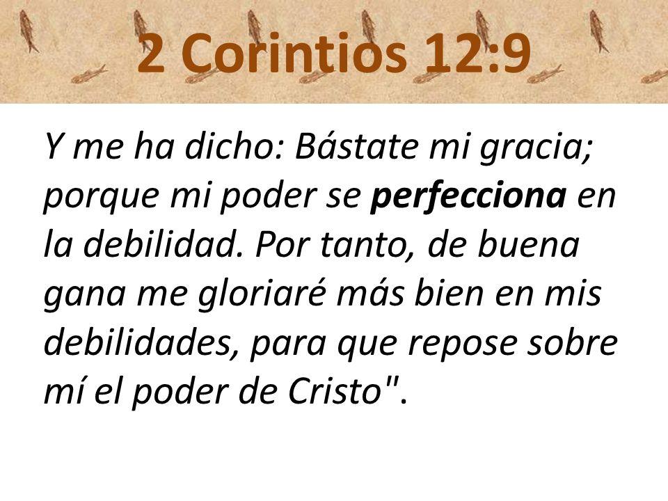 2 Corintios 12:9