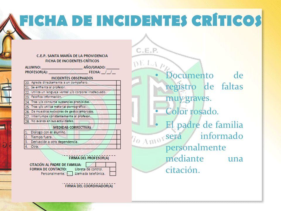 FICHA DE INCIDENTES CRÍTICOS