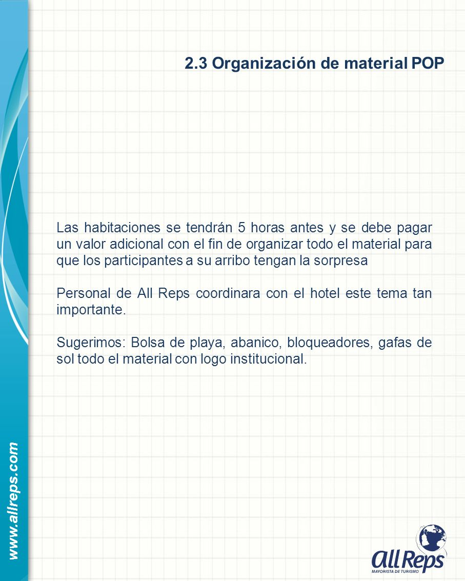 2.3 Organización de material POP