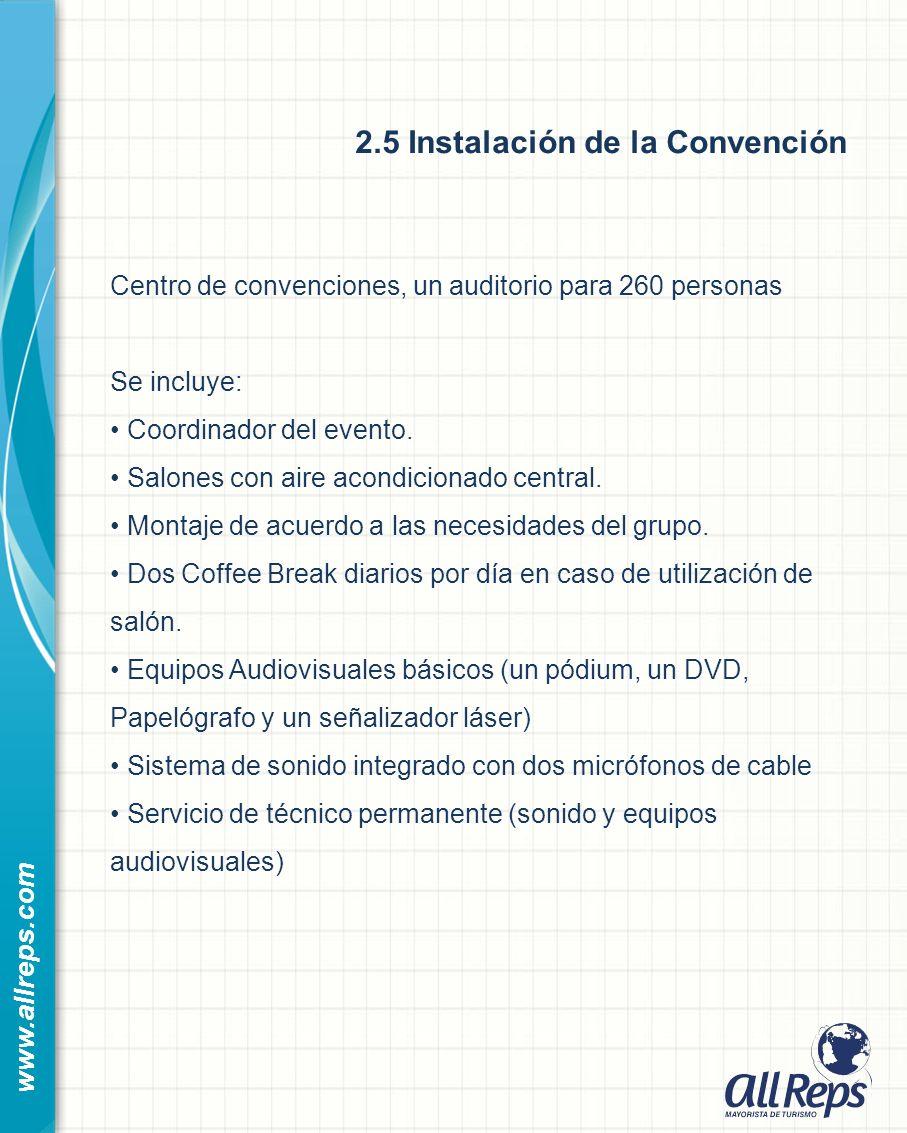 2.5 Instalación de la Convención