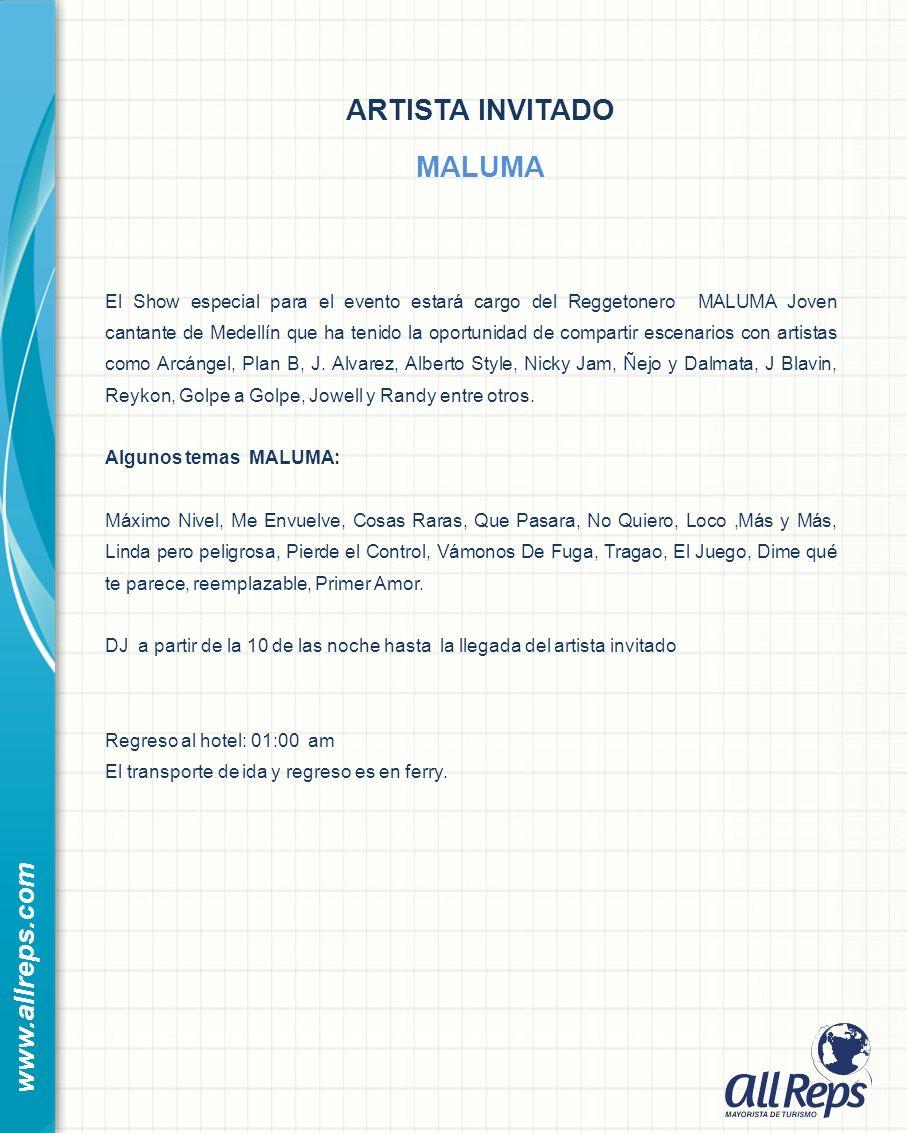 ARTISTA INVITADO MALUMA