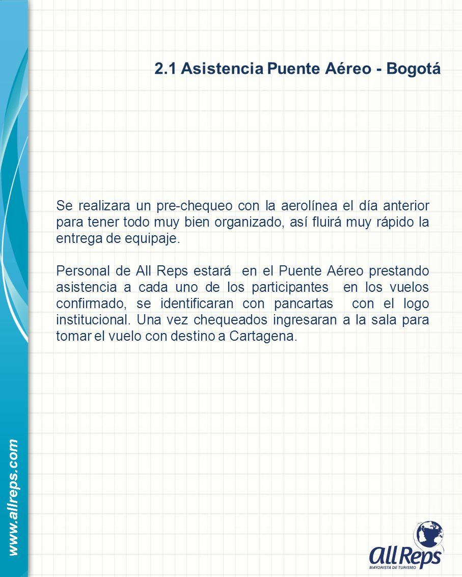 2.1 Asistencia Puente Aéreo - Bogotá