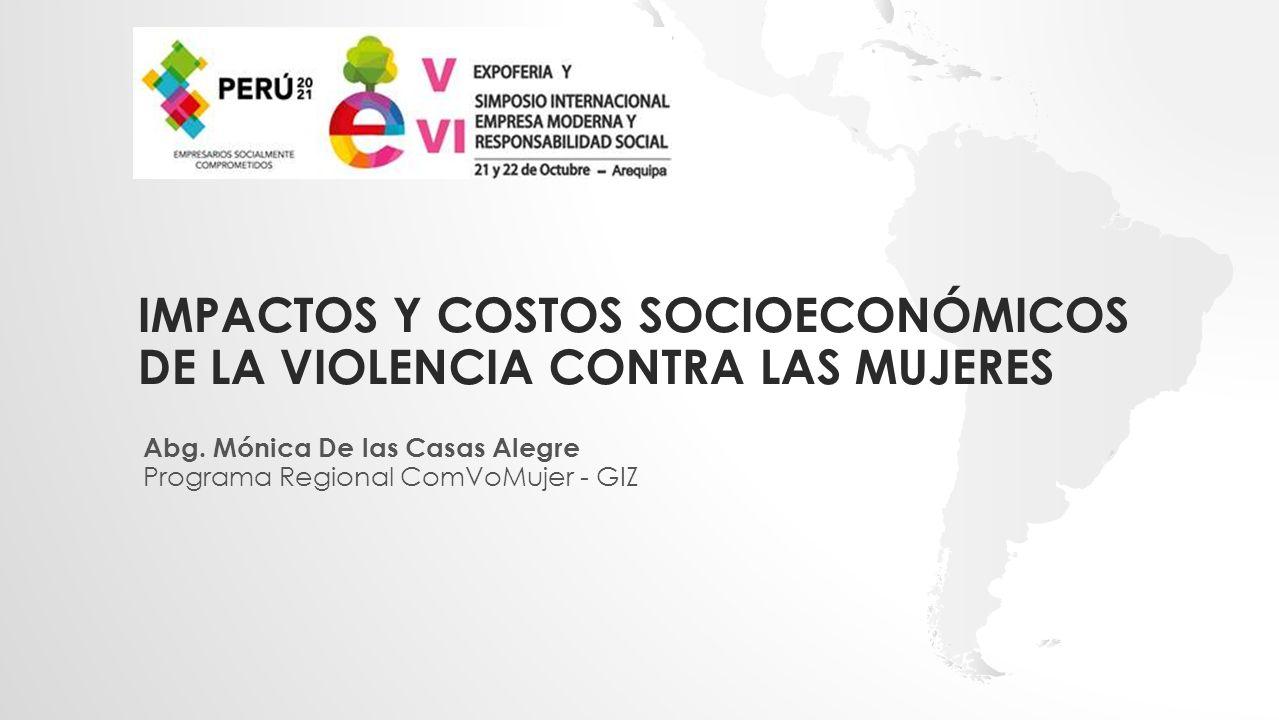 Impactos y costos socioeconómicos de la violencia contra las mujeres