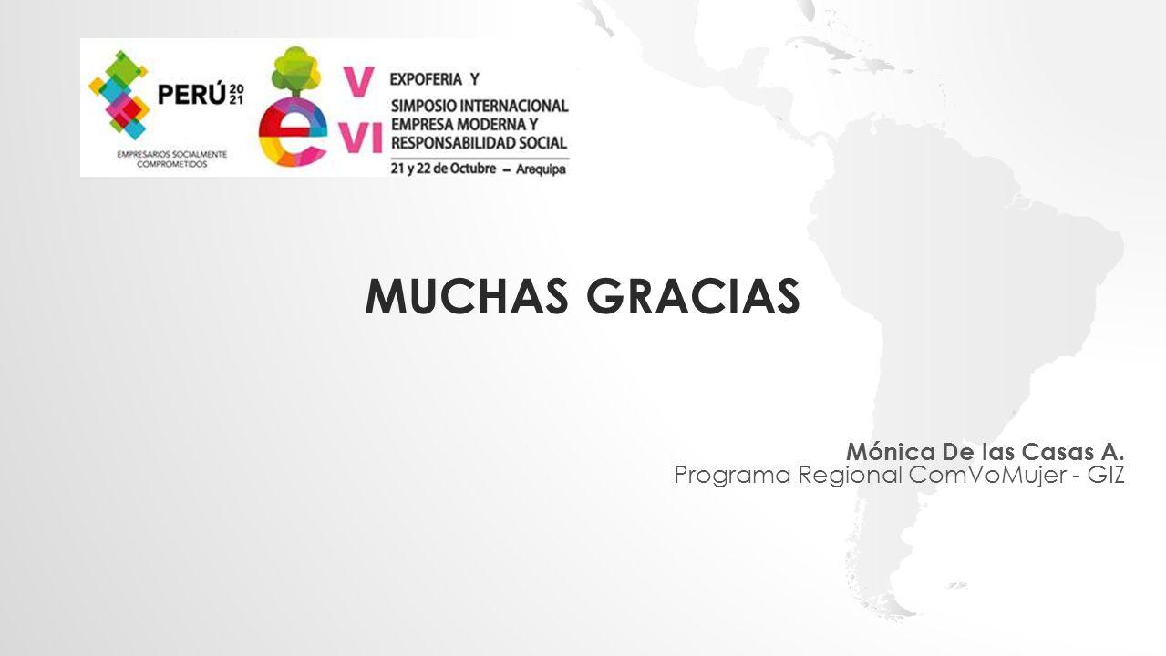 Mónica De las Casas A. Programa Regional ComVoMujer - GIZ