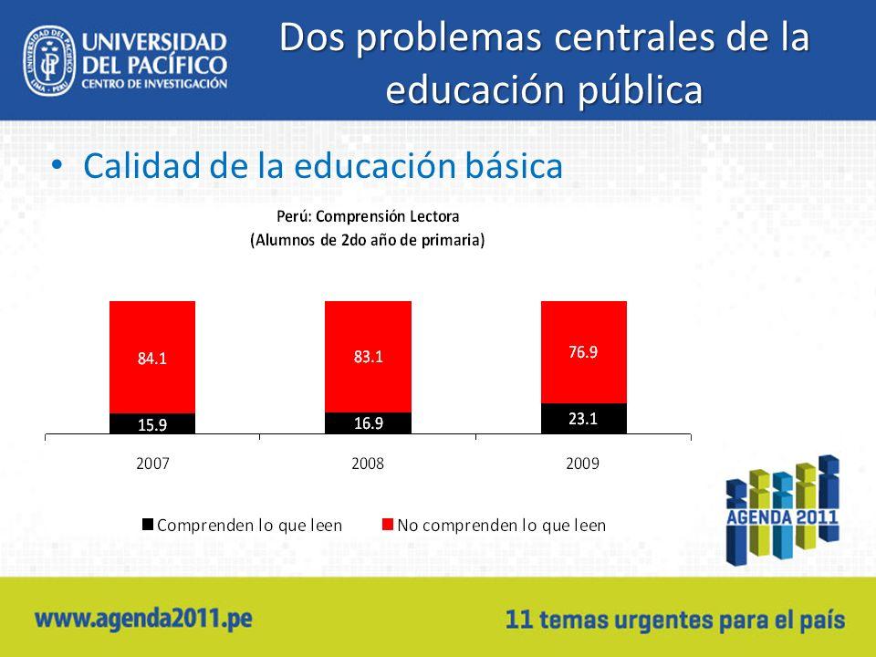 Dos problemas centrales de la educación pública