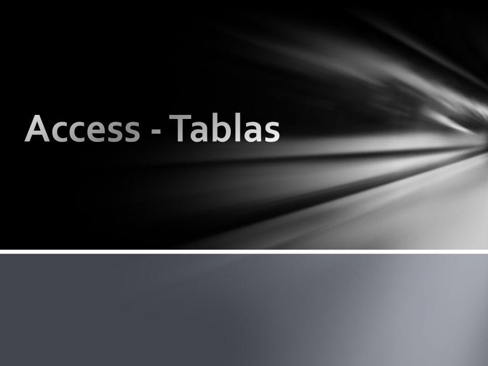 Access - Tablas