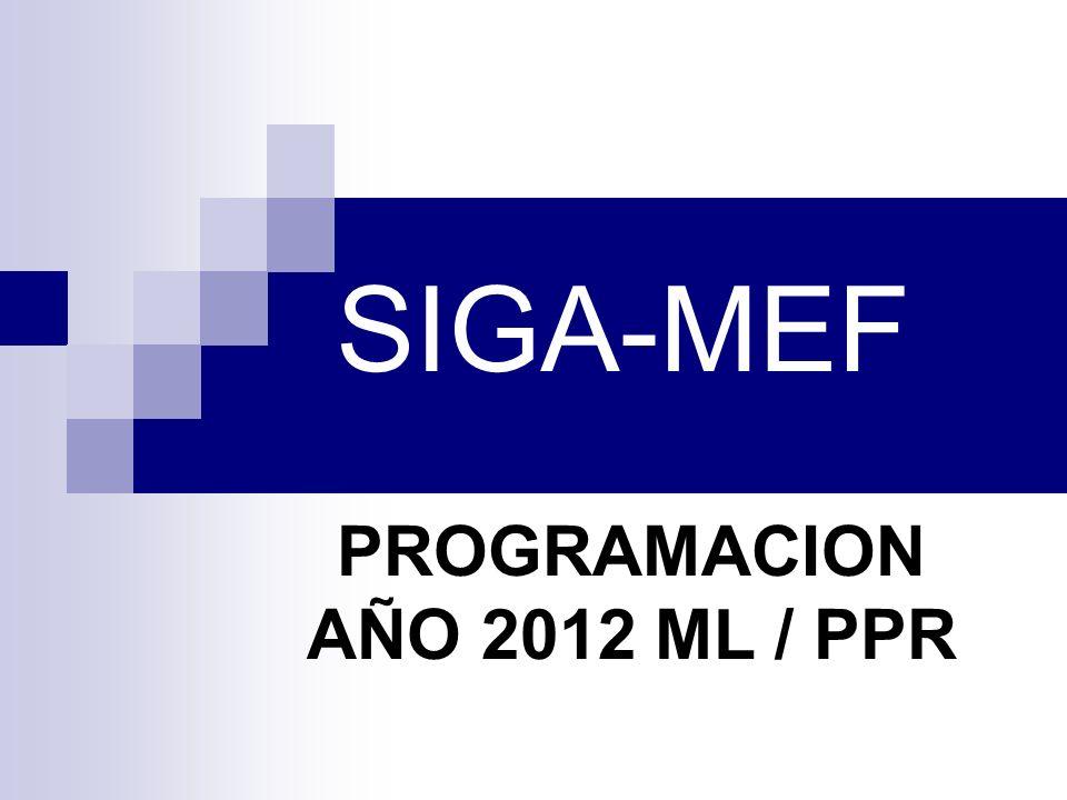 PROGRAMACION AÑO 2012 ML / PPR