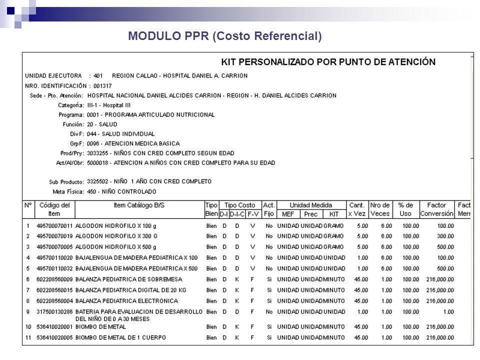 MODULO PPR (Costo Referencial)