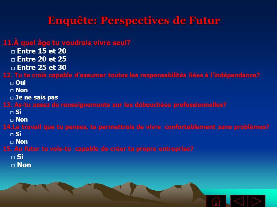 Enquête: Perspectives de Futur