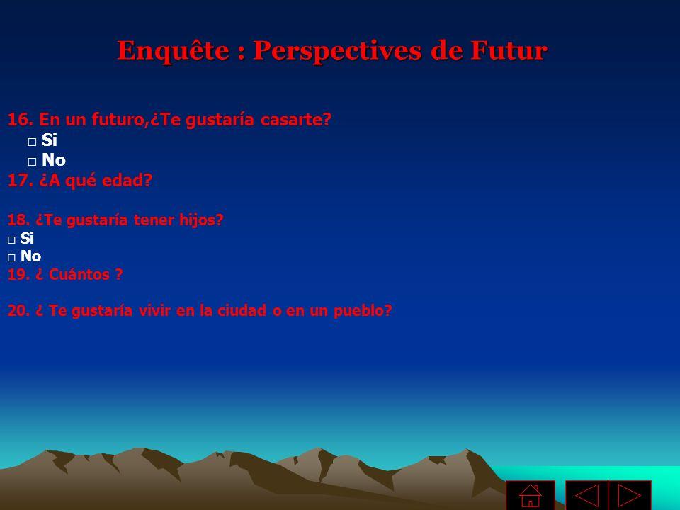 Enquête : Perspectives de Futur