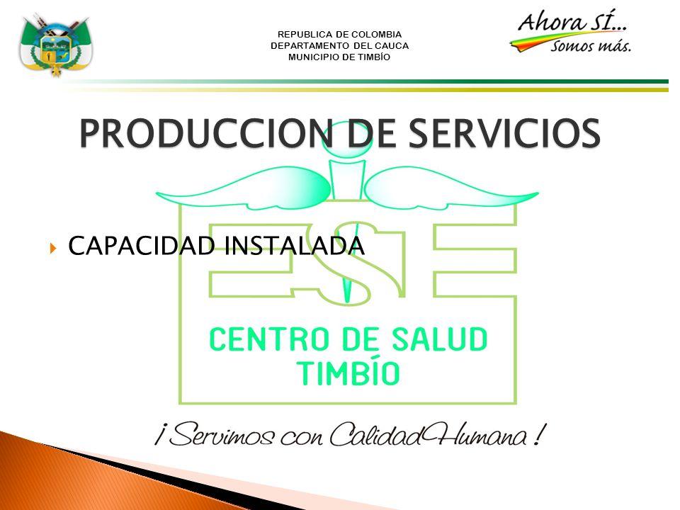 PRODUCCION DE SERVICIOS