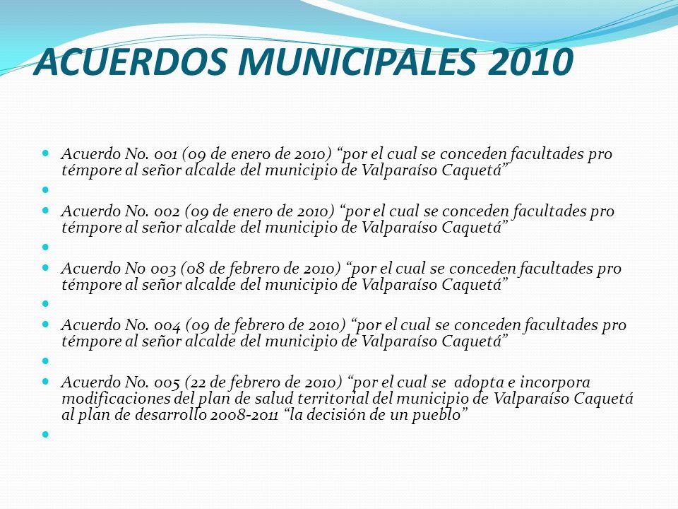 ACUERDOS MUNICIPALES 2010