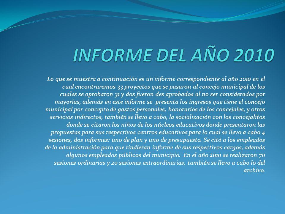 INFORME DEL AÑO 2010